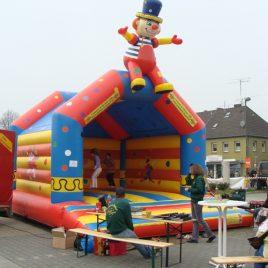 """E+V01 Profihüpfburg """"klatschender Clown"""""""