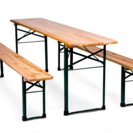 GBT20 Bierzeltgarnitur 1 Tisch mit 2 Bänken
