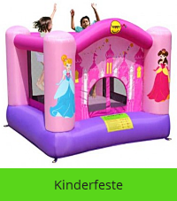 Rosa Hüpfburg für kleinkinder