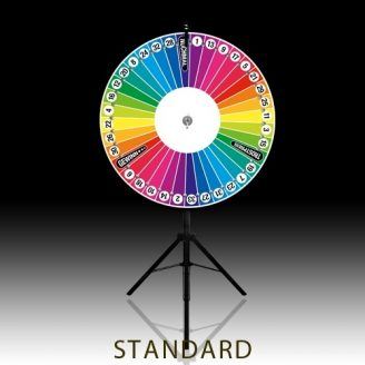 Glücksrad in Regenbogenfarben