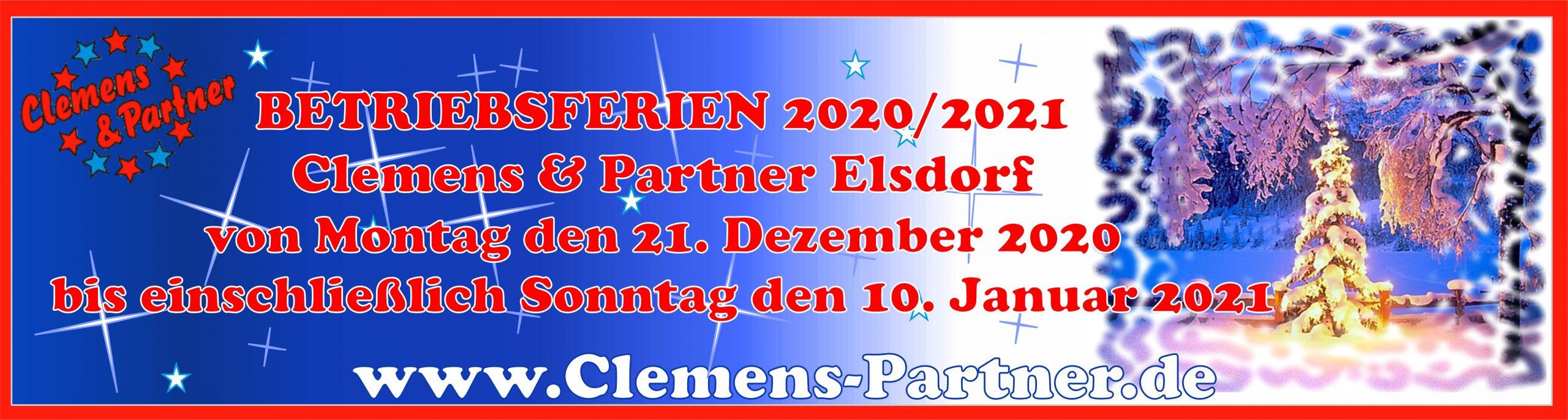 Betriebsferien Elsdorf 2020-2021